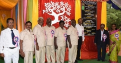 60TH ANNUAL DAY - 26.01.2017 - CHIEF GUEST INCOMETAX PRINCIPAL COMMISSIONER, Mr. V. MAHALINGAM, AND MANAGEMENT MEMBERS WITH FOUNDATION STORE OF STUDENT HOSTEL ROOMS