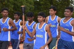 60th ANNUAL SPORTS DAY - ATHLETS WITH OLYMPIC TOURCH