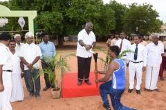 60th ANNUAL SPORTS DAY - SECRETARY Mr. P. SURENDRAN LIGHTING THE OLYMPIC TOURCH