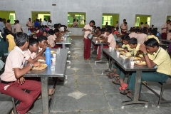INTER SCHOOL SCIENCE EXHIBITION - PARTICIPANTS TAKING LUNH IN NEW DINING HALL.