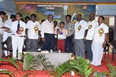 INTER SCHOOL SCIENCE EXHIBITION PRIZE DISTRIBUTION FUNCTION 22.10.2016 - ISRO, GENERAL MANAGER, CHIEF GUEST Mr. S. INGERSONL GIVING I PRIZE (6-8) TO BALAMANDIRAM SCHOOL