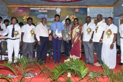 INTER SCHOOL SCIENCE EXHIBITION PRIZE DISTRIBUTION FUNCTION 22.10.2016 - ISRO, GENERAL MANAGER, CHIEF GUEST Mr. S. INGERSONL GIVING I PRIZE(11-12) TO MKR AJ ENG MED SCHOOL