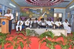 INTER SCHOOL SCIENCE EXHIBITION PRIZE DISTRIBUTION FUNCTION 22.10.2016 - ISRO RETD SCIENTIST Mr. N. SIVASUBRAMANIAN FELICITATING THE GARHERING