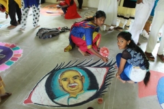 KAMARAJAR 114TH BIRTHDAY COMPETITION 2.7.16 - Rangoli