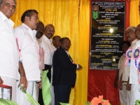 60TH ANNUAL DAY - 26.01.2017 - INCOMETAX PRINCIPAL COMMISSIONER Mr. V. MAHALINGAM, IRS., OPENING THE FOUNDATION STONE OF STUDENT HOSTEL BUILDING