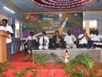 INTER SCHOOL SCIENCE EXHIBITION - INAUGURAL FUNCTION 21.10.2016 - SCHOOL PRESIDENT Mr S SELVARAJ GIVING PRESIDENTIAL ADDRESS