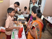 INTER SCHOOL SCIENCE EXHIBITION - INAUGURAL FUNCTION 21.10.2016 -STUDENTS EXPLAINING THE JUDGES