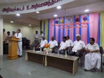 61ST SPORTS DAY PRIZE DISTRIBUTION FUNCTION 22.03.2018 - HEADMASTER Mr. D. RAMESH GIVING WELCOME ADDRESS