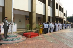 69th Republic Day Celebration - 26.01.2018 - Chief Guest Dr A.C. Arun saluting the national flag