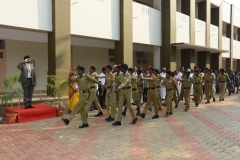 69th Republic Day Celebration - 26.01.2018 - Guard of Honour by NCC army wing boys