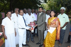 69th Republic Day Celebration - 26.01.2018 Headmaster receiving the Guest