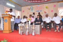 KAMARAJAR 115TH BIRTHDAY COMPETITION PRIZE DISTRIBUTION FUNCTION - 19.07.2017 - President Mr. S. Selvaraj giving presidential address