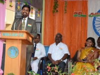 69th Republic Day Celebration - 26.01.2018 - Chief Guest Dr A.C. Arun adderssing the gathering