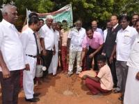 KAMARAJAR 115TH BIRTHDAY COMPETITION PRIZE DISTRIBUTION FUNCTION - 19.07.2017 - ESI Joint Director, Mr. R Tineshkumar planting the sapling