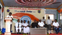 72ND INDEPENDANCE DAY 15.08.2018 - CHEIF GUEST Mr S. SELVARAJ, SECRETARY, MNUJNHSS, GIVING SPECIAL ADDRESS