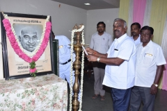 KAMARAJAR 116TH BIRTHDAY COMPETITION - 07.07.2018 - SCHOOL JOINT SECRETARY MR. PAULPANDIAN LIGHTING THE LAMP AND INAUGURATING THE COMPETITION