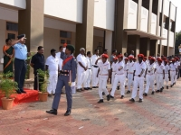 70TH REPUBLIC DAY CELEBRATION - 26.01.2019 - CHIEF GUEST WG CDR C. GUNASEKARAN, COMMANDIN OFFICER, 3(TN) NCC, TIRUCHIRAPALLI - GUARD OF HONOUR