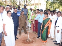 70TH REPUBLIC DAY CELEBRATION - 26.01.2019 -  CHIEF GUEST WG CDR C. GUNASEKARAN, COMMANDIN OFFICER, 3(TN) NCC, TIRUCHIRAPALLI PLANTING SAPLING