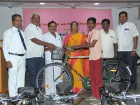 FREE CYCLE DISTRIBUTION FUNCTION - 118.01.2019 - CHIEF GUEST Mrs. M. KASTHURI, DEO, THIRUMANGALAM