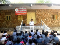 SCOUT & NGC ONE DAY CAMP TO PULLOOTHU - 12.02.2019 - Mr S. MANIKANDAN ADDRESSING THE BOYS