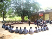 SCOUT & NGC ONE DAY CAMP TO PULLOOTHU - 12.02.2019 - Mr T. JOSEPH VINO ADDRESSING THE BOYS