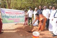 mrs-k-jayameenadevi-m-sc_-m-ed_-deo-madurai-planting-the-sapling-on-the-eve-of-65th-republic-day-celebration