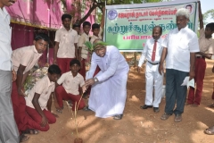 mr-k-paranthamanar-planting-sapling-112th-kamarajar-birthday-competition-prize-distrubution-function-on-25-07-2014