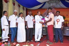 07.01.2016 – 59th Annual Day – State Level Boxing winner getting prize from the Chief Guest - Dr. M. Chokkalingam, Chief Justice, National Green Tribunal, Southern Regional