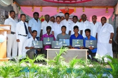 07.10.2015 - Free Laptop & Cycle Distribution Function - 2014 - 2015 Students receiving the Laptop