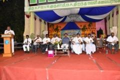 08.01.2016 – KPSVD HOSTEL - 59th Hostel Day – Mr. V.P. Mani, Hostel Supervisor, presenting the annual report