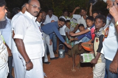 08.01.2016 – KPSVD HOSTEL - 59th Hostel Day – planting sapling by the chief guest Mr. A. Kaliamurthi, SP(retd.), Trichy