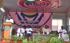 67th Republic Day – 26.01.2016 – Secretary Mr. P. Surendran giving the welcome address