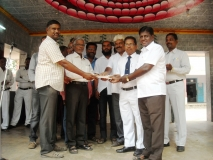 Old Students of our school distributing scholarship to our students on 10.08.2015.