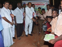 07.01.2016 – 59th Annual Day – Chief Guest - Dr. M. Chokkalingam, Chief Justice, National Green Tribunal, Southern Regional planting the sapling
