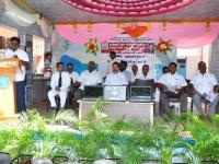 07.10.2015 - Free Laptop & Cycle Distribution Function - Presidential Address by President of MNUJNHSS Mr. S. Selvaraj