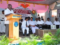 07.10.2015 - Free Laptop & Cycle Distribution Function - Welcome Address by Secretary of MNUJNHSS Mr. P. Surendran