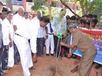15.08.2015 DRO, Salem Mr S. Selvaraj planting the sapling