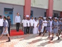 15.08.2015 DRO, Salem Mr. S.Selvaraj accepting the gaurd of honour