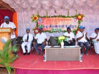 59 TH SPORTS DAY - 16.10.2015 INAUGURAL FUNCTION - SECRETARY MR. P. SURENDRAN DECLARE OPEN THE SPORTS MEET