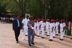 73RD INDEPENDENCE DAY -15.08.2019 - CHIEF GUEST Mr ISAC MOHANLAL  - GUARD OF HONOUR