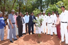 73RD INDEPENDENCE DAY -15.08.2019 - CHIEF GUEST Mr ISAC MOHANLAL  - PLANTING SAPLING